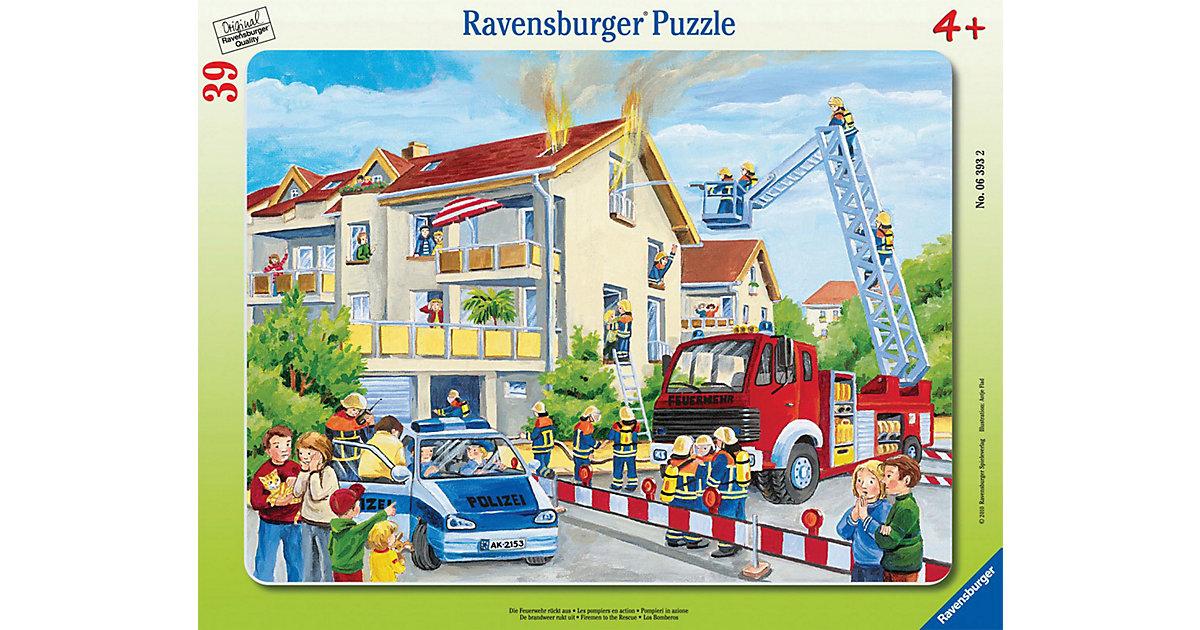 Rahmenpuzzle 39 Teile Die Feuerwehr rückt aus