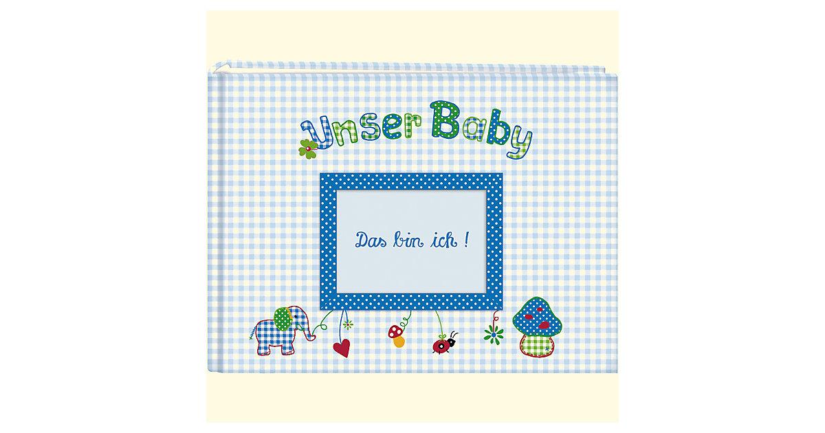 Unser Baby, Stoff-Fotoalbum hellblau