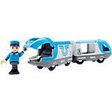 Поезд-экспресс BRIO с машинистом на батарейках, голубой