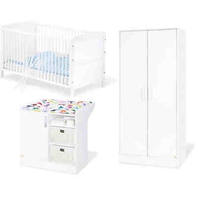 babyzimmer prinzessin 3 tlg kinderbett wickelkommode wandregal ticaa mytoys. Black Bedroom Furniture Sets. Home Design Ideas