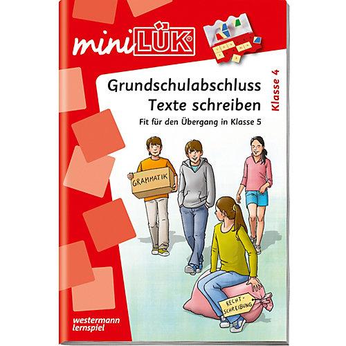 WESTERMANN LERNSPIELVERLAG miniLÜK: Grundschulabschluss Texte schreiben, Übungsheft - broschei