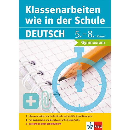 KLETT Klassenarbeiten wie in der Schule: Deutsch 5.-8. Klasse Gymnasium - broschei