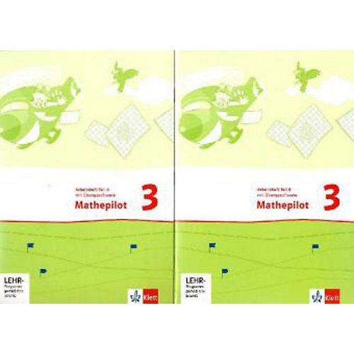 Klett Verlag Mathepilot: 3. Schuljahr, Arbeitshefte m. CD-ROM, 2 Tle. - broschei