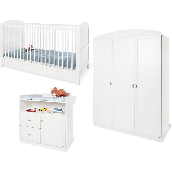 Komplett Kinderzimmer LAURA, 3-tlg. (Kinderbett, Wickelkommode und ... | {Kinderzimmer weiß 69}