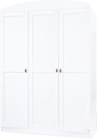 Kleiderschrank MAREN 3 türig Weiß Roba