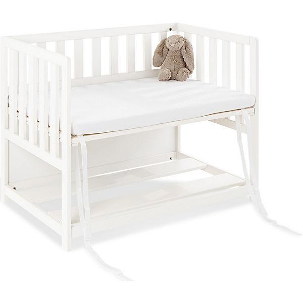 beistellbett janne mit matratze fichte massiv wei lasiert pinolino mytoys. Black Bedroom Furniture Sets. Home Design Ideas