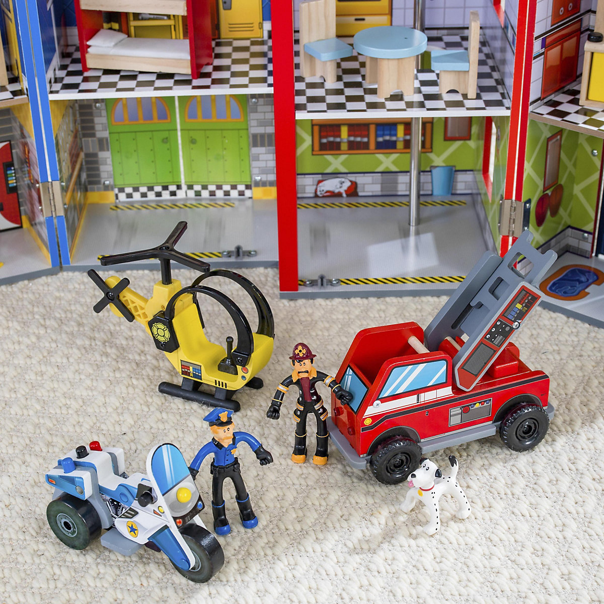 helden des alltags spielset aus holz kidkraft mytoys. Black Bedroom Furniture Sets. Home Design Ideas