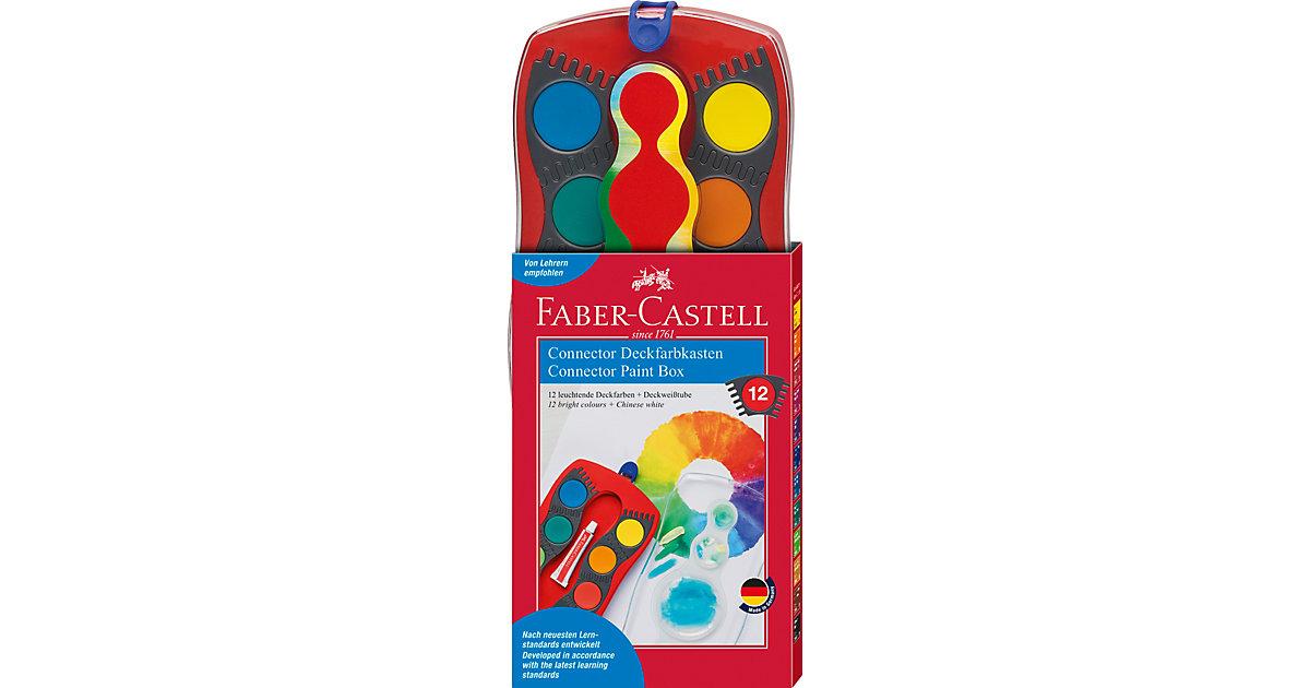 CONNECTOR Deckfarbkasten, 12 Farben, inkl. Deckweiß
