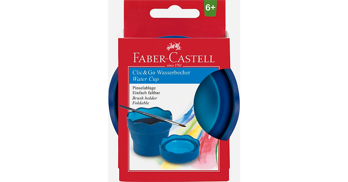 CLIC & GO Wasserfaltbecher blau