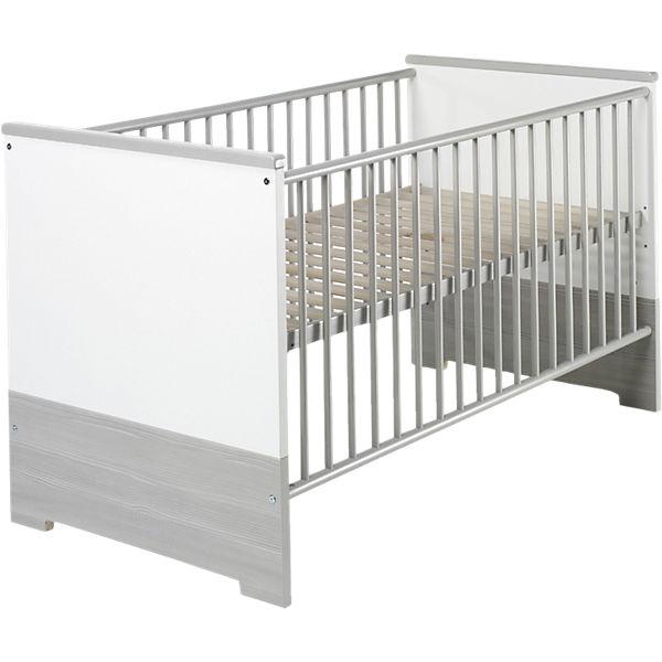 Kinderbett weiß 70x140  Kinderbett ECO SILBER, Pinie silberfarbig/weiß, 70 x 140 cm ...