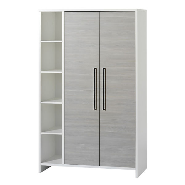 kleiderschrank eco silber pinie silberfarbig wei 2. Black Bedroom Furniture Sets. Home Design Ideas