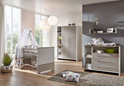 Komplett Kinderzimmer ECO SILBER, 3 Tlg. (Kinderbett, Wickelkommode Und 2   ...