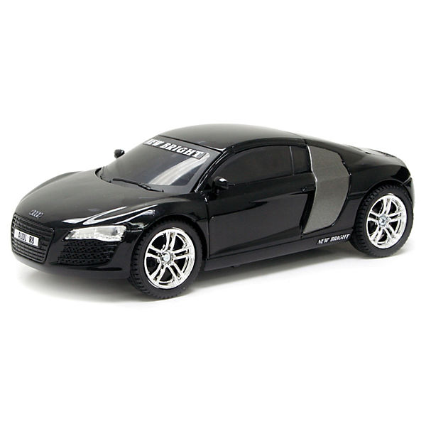 new bright rc auto audi r8 schwarz new bright mytoys. Black Bedroom Furniture Sets. Home Design Ideas