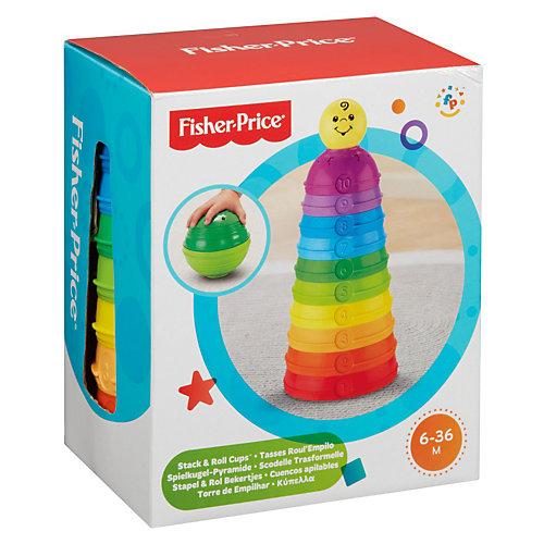 """Пирамидка Fisher-Price """"Развивающие стаканчики"""" от Mattel"""