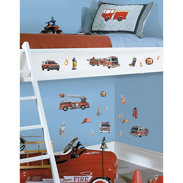 Wandsticker Feuerwehr 22 Tlg Roommates Mytoys