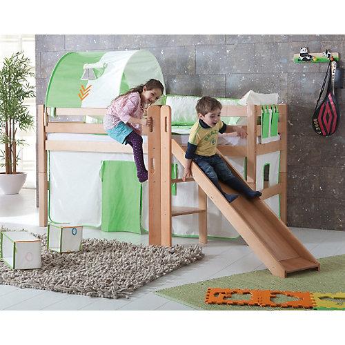 Relita Spielbett ELIYAS mit Rutsche, Buche massiv, natur lackiert, 90 x 200 cm Sale Angebote Neu-Seeland