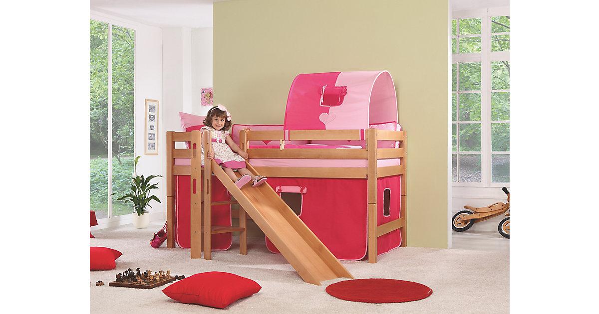 Vorhangset Spielbett ELIYAS und ALEX (ohne Rutsche), pink/rosa Kinder