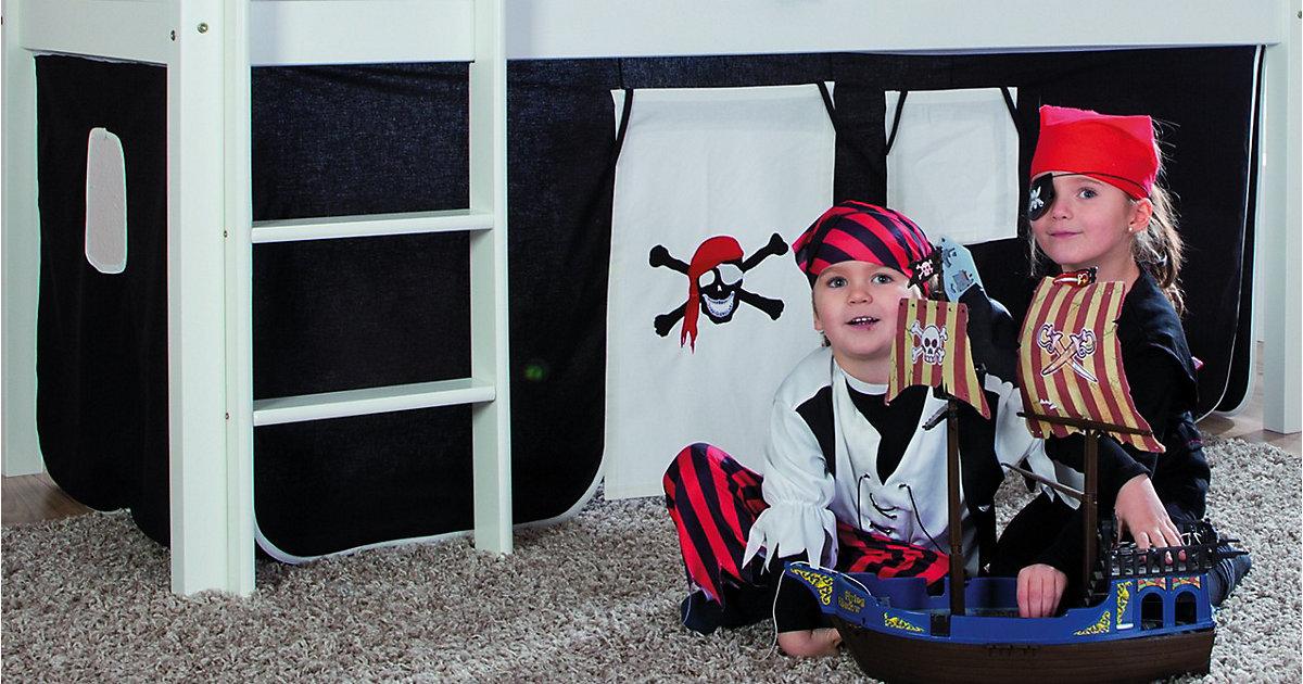 Vorhangset Spielbett ELIYAS und ALEX (ohne Rutsche), Pirat schwarz  Kinder