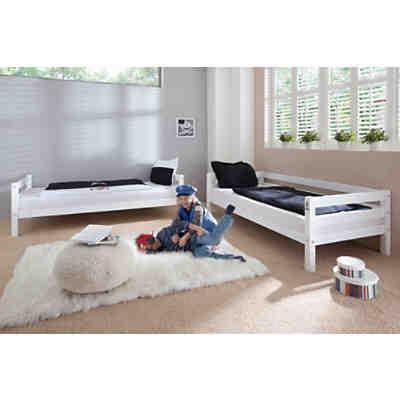 etagenbett beni buche massiv wei 2 x 90 x 200 cm 2 - Etagenbett Couch Lego Film