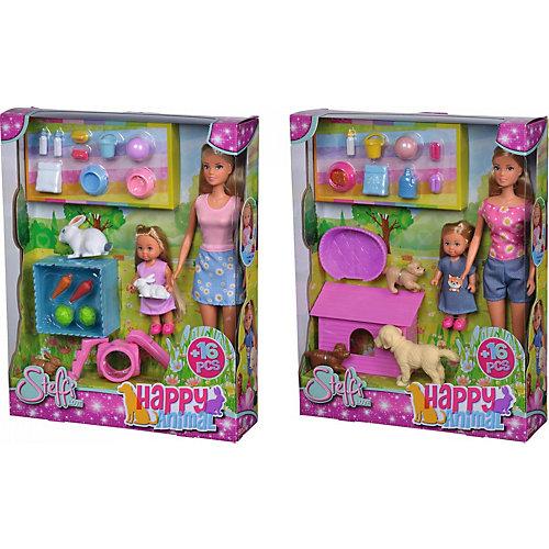 """Игровой набор с куклами Simba """"Steffi Love"""" Штеффи и Еви и зверюшки, в ассортименте от Simba"""