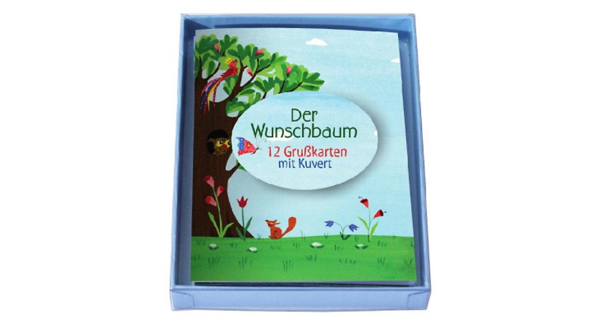 Der Wunschbaum, 12 Grußkarten mit Kuvert