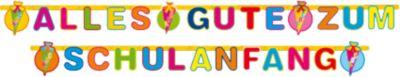 Girlande Alles Gute zum Schulanfang, Einschulungsdeko, Maße: 300 x 11 cm