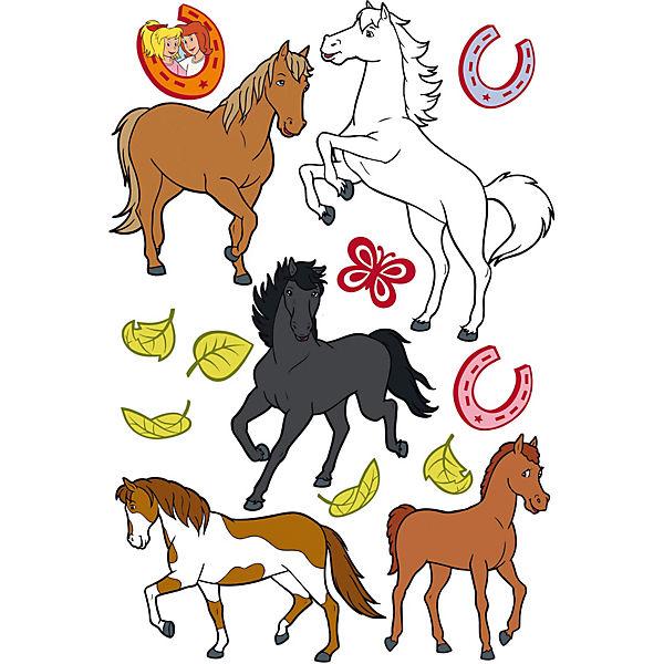 Wandtatoos Pferde wandtattoo bibi und tina pferde 14 tlg bibi und tina mytoys