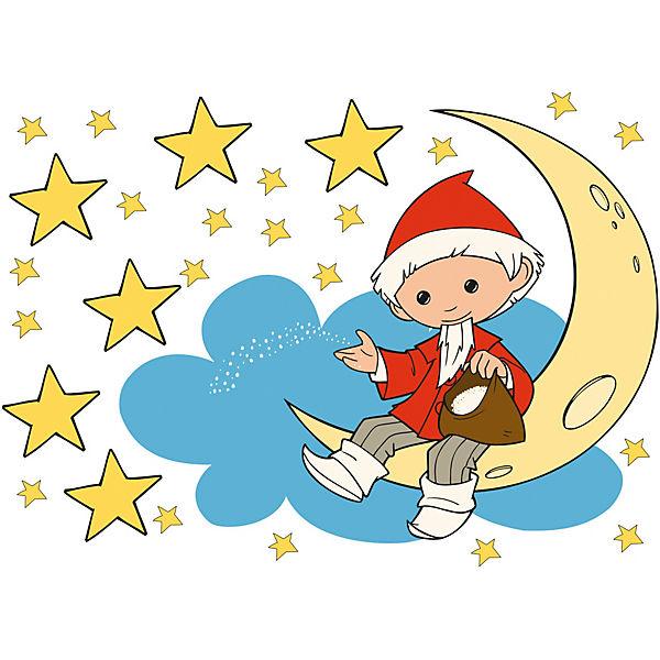 Wandtattoo Sandmannchen Mond Und Sterne 25 Tlg Sandmannchen