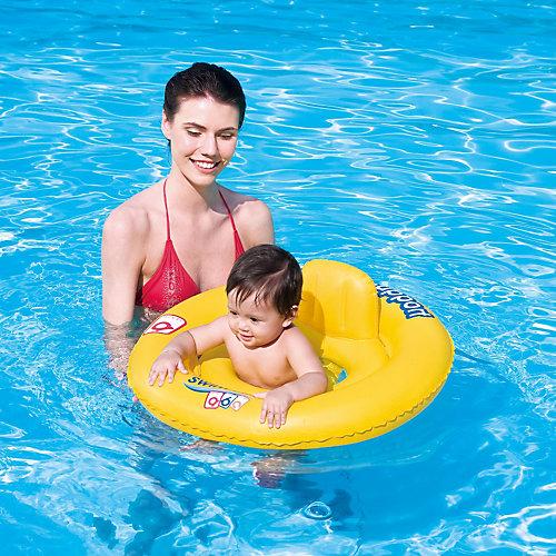 Круг для плавания с сиденьем и спинкой Swim Safe, 69 см, ступень А, Bestway от Bestway
