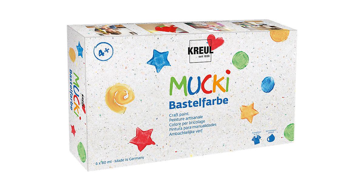 Mucki Bastelfarbe, 6 x 80 ml auswaschbar