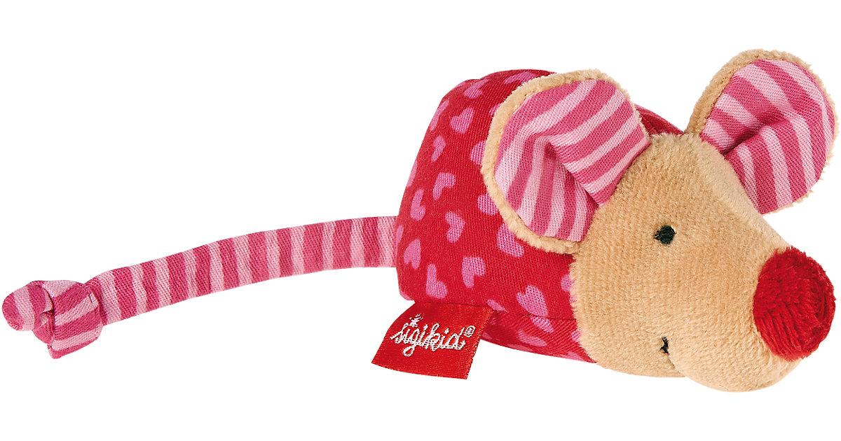 Maus mit Rassel, pink (49136)