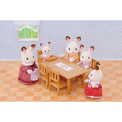 """Набор """"Обеденный стол с 5 стульями"""" Sylvanian Families от Эпоха Чудес"""