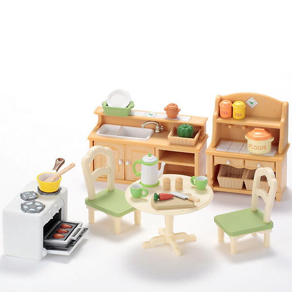 """Набор """"Кухня в коттедже"""" Sylvanian Families, новая версия"""
