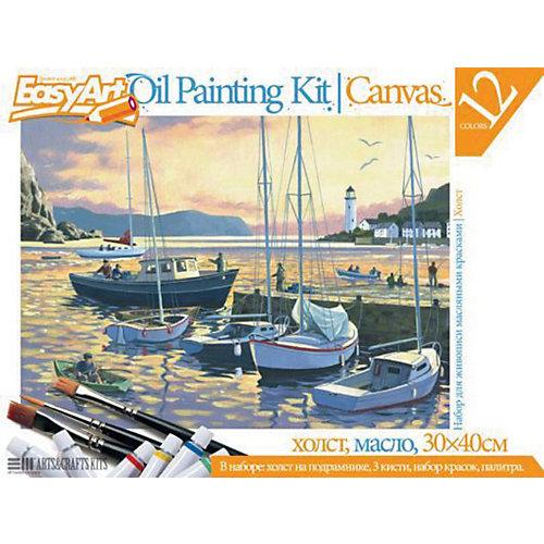 "EasyArt Набор для живописи масляными красками № 5 ""Вечерняя гавань"" от Фантазер"