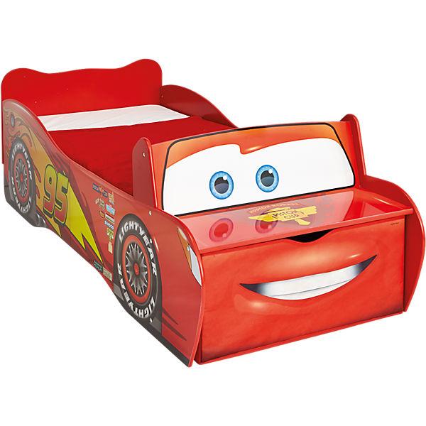 Kinderbett cars mit sitzbank und spielzeugbox cm