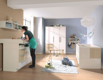 Komplett Kinderzimmer MILLA, 4 Tlg. (Kinderbett, Kommode, Wickelaufsatz Und  2 ...