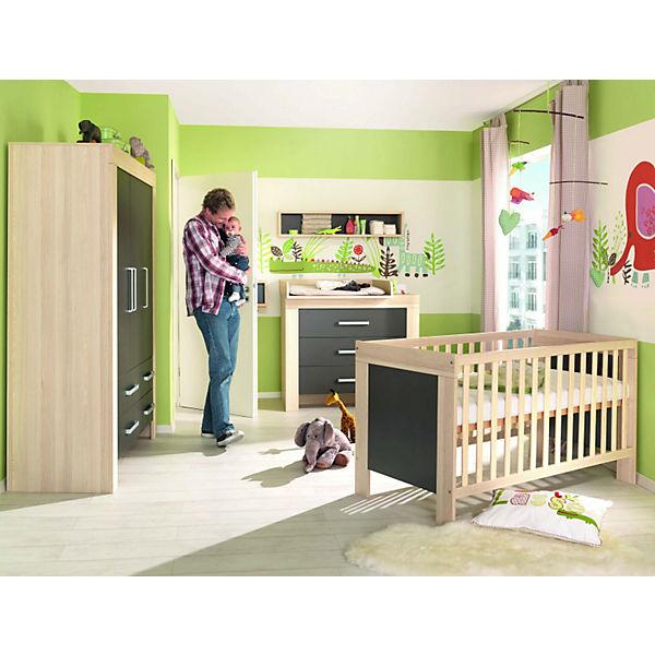 Komplett Kinderzimmer LASSE, 4-tlg. (Kinderbett, Kommode ...