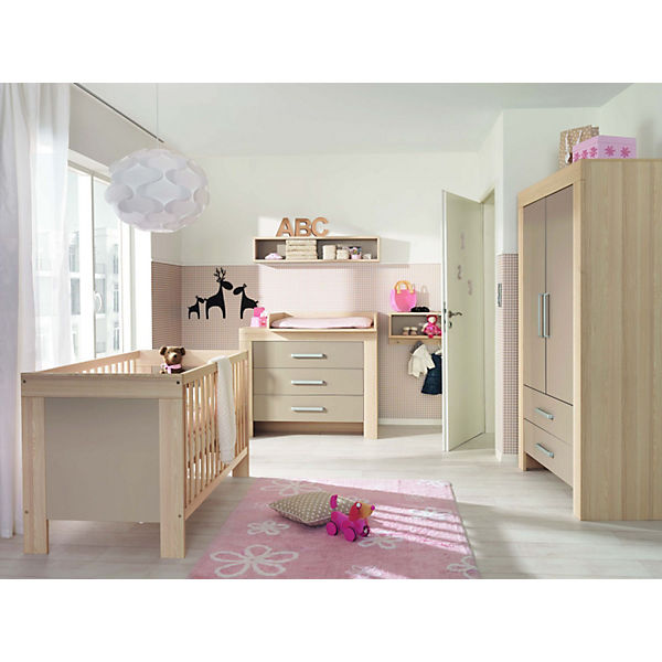 komplett kinderzimmer lasse 4 tlg kinderbett kommode wickelaufsatz und 2 t riger. Black Bedroom Furniture Sets. Home Design Ideas