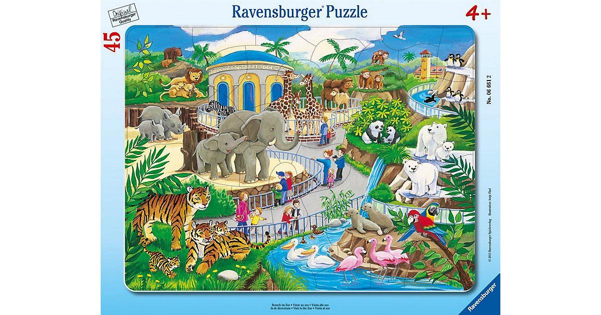 Rahmen-Puzzle, 45 Teile, 32,5x24,5 cm, Besuch im Zoo