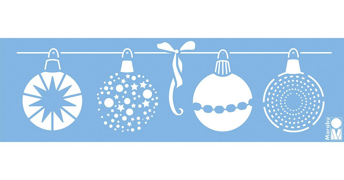 Kreativschablone Weihnachtskugeln, 10 x 33 cm