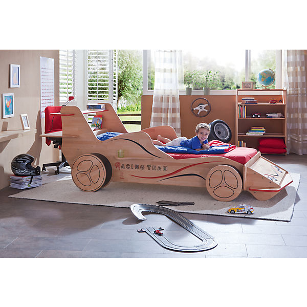 Kinderbett Rennwagen R1 Buche massiv geölt 70 x 140 cm Relita