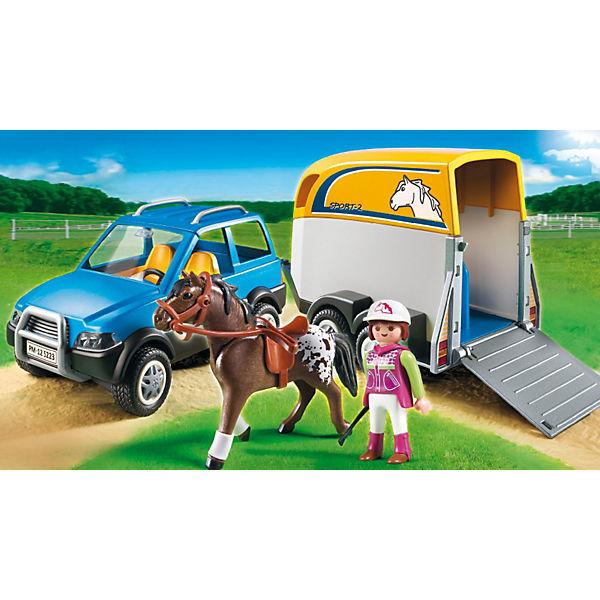 playmobil 5223 pkw mit pferdeanh nger playmobil mytoys. Black Bedroom Furniture Sets. Home Design Ideas