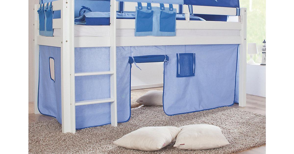 Vorhangset Spielbett ELIYAS und ALEX (ohne Rutsche), Hellblau/blau  Kinder