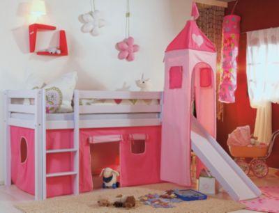 Etagenbett Spielbett Alex : Vorhangset für spielbett kim alex mit turm pink rosa herz relita