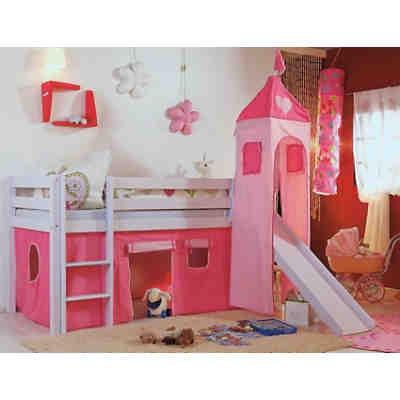 spielbett kim mit rutsche turm buche massiv wei 90 x 200 cm relita mytoys. Black Bedroom Furniture Sets. Home Design Ideas
