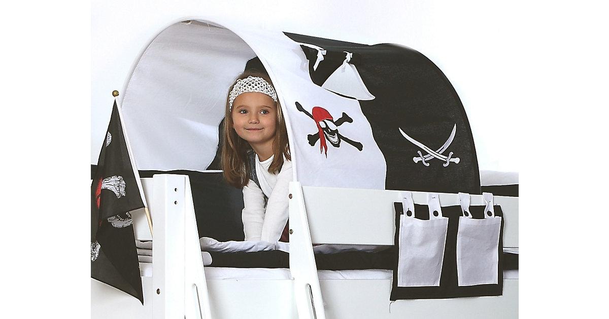 Tunnel zu Hoch- & Etagenbetten, 75 cm, Pirat schwarz
