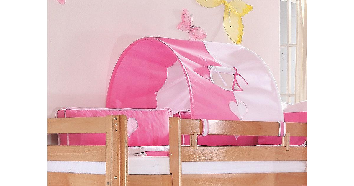 Image of Tunnel Hoch-und Etagenbetten, 75 cm, rosa/weiß Kinder