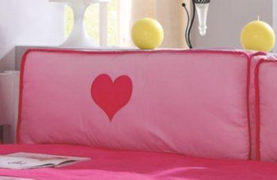 Rückenkissen, 88 X 33 Cm, Pink/rosa Herz ...