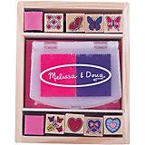 """Набор печатей """"Бабочки и сердечки"""", Melissa & Doug"""