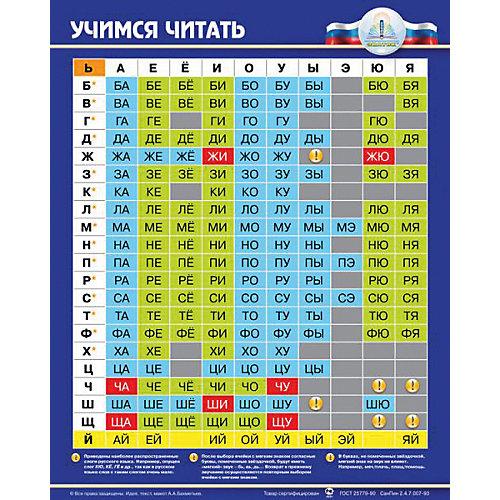 """Электронный звуковой плакат """"Учимся читать"""" от Знаток"""